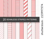 20 vector seamless striped... | Shutterstock .eps vector #215997574