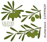 olive premium quality natural | Shutterstock .eps vector #215999629