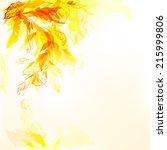 autumn art background with... | Shutterstock .eps vector #215999806
