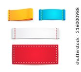 Collection of Five Colorful Blank Labels or Badges with Copyspace for Text | Shutterstock vector #216000988