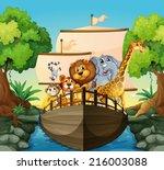 Illustration Of Many Animals O...