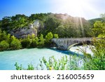 Bridge Over Le Verdon River In...