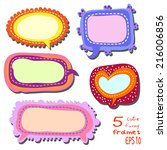 set of 5 bright multicolored... | Shutterstock .eps vector #216006856