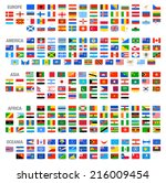 all vector world country flags...