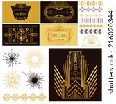 art deco and gatsby party set.... | Shutterstock .eps vector #216020344