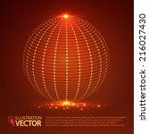 wire frame light sphere. vector ...   Shutterstock .eps vector #216027430