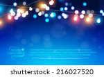 abstract bokeh background.... | Shutterstock .eps vector #216027520