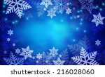 christmas background. vector... | Shutterstock .eps vector #216028060