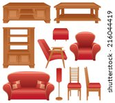 A Set Of Furniture For A Livin...