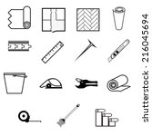 vector icons for working with...   Shutterstock .eps vector #216045694