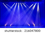 stage spotlight with laser rays | Shutterstock . vector #216047800