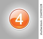 4 Number Circular Vector Orang...