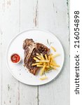 T Bone Steak With Salted Frenc...