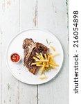 T Bone Steak With Salted Frenc...