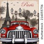 Paris Retro Poster.