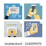 modern technology concepts.... | Shutterstock .eps vector #216059470