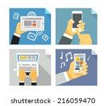 modern technology concepts.... | Shutterstock .eps vector #216059470