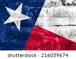 Texas State Flag Painted On...