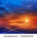 photovoltaic power generation... | Shutterstock . vector #216064249