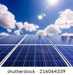 photovoltaic power generation... | Shutterstock . vector #216064339