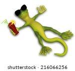gecko relaxing in the sun | Shutterstock . vector #216066256