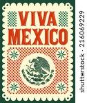 Vintage Viva Mexico   Mexican...