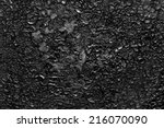 Black Soot On Metal Background