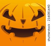 big and scary pumkin head... | Shutterstock .eps vector #216081640