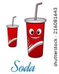 cartoon cute cola or soda... | Shutterstock .eps vector #216081643