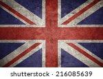 united kingdom uk flag on the... | Shutterstock . vector #216085639