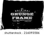 abstract grunge photo frame.... | Shutterstock .eps vector #216093586