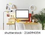 Desk Of Creative Worker.   ...