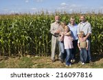 family of three generations by... | Shutterstock . vector #216097816