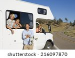 Family Of Four With Motor Home...