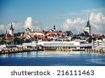 ferryboat terminal and... | Shutterstock . vector #216111463