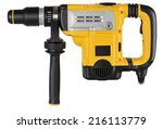 professional rotary hammer with ... | Shutterstock . vector #216113779