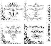 vintage decorative corners ... | Shutterstock .eps vector #216115078