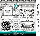 vintage design elements ... | Shutterstock .eps vector #216118774