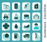 oil industry icons set with... | Shutterstock .eps vector #216120226