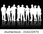 group of people | Shutterstock .eps vector #216122473