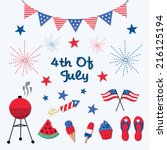 independence day  4th of july... | Shutterstock .eps vector #216125194