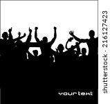 sport fans. poster for sports... | Shutterstock .eps vector #216127423