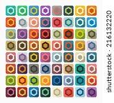 flat design  polygon | Shutterstock .eps vector #216132220