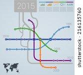 infographics subway... | Shutterstock .eps vector #216135760