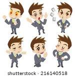 positive feelings of the... | Shutterstock .eps vector #216140518