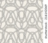 seamless pattern with linear... | Shutterstock .eps vector #216142069