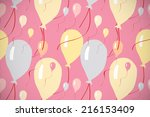 decorated background or... | Shutterstock . vector #216153409