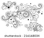 ornate stars | Shutterstock .eps vector #216168034