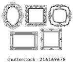 elegant ornate frames | Shutterstock .eps vector #216169678