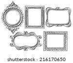 elegant ornate frames | Shutterstock .eps vector #216170650